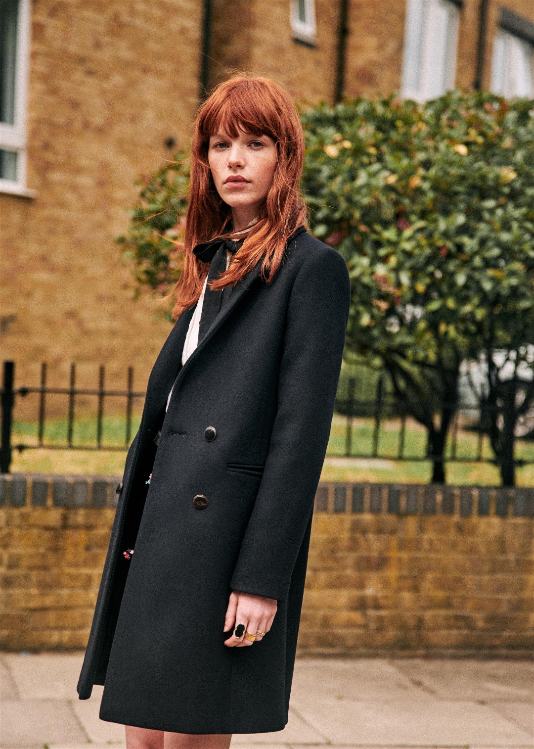 Manteau trench court